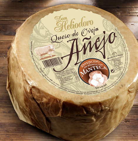 Don Heliodoro, aged cheese aged in lard